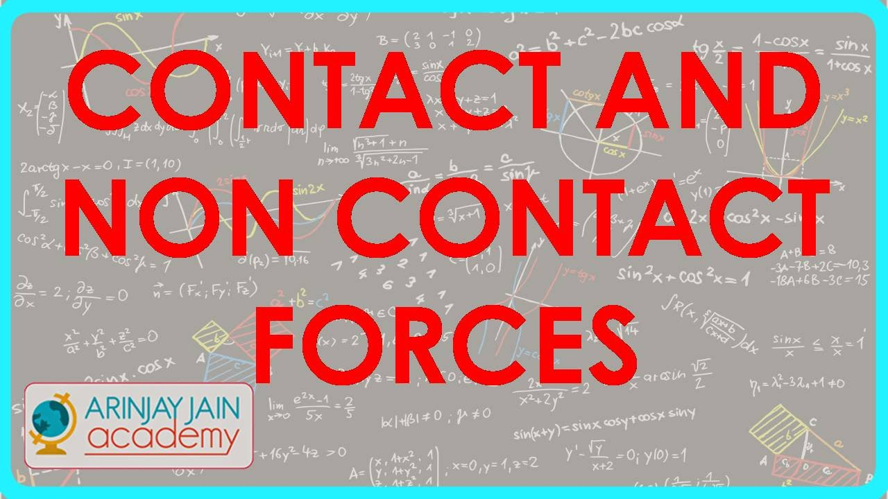 Contact And Non Contact Forces - Force - Physics
