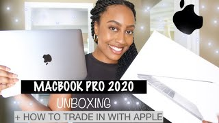 "13"" MACBOOK PRO 2020 UNBOXING (space grey) + HOW TO TRADE IN YOUR APPLE DEVICES!"