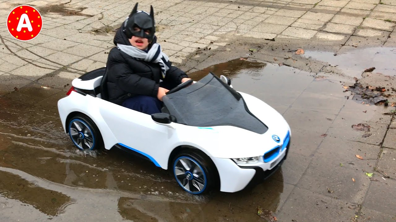 Test Drive Electric Car For Kids Bmw I8 With Superhero Batman