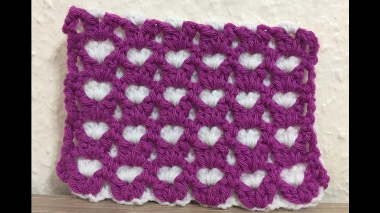 Merveilleux Tuto Motif Coeur Au Crochet