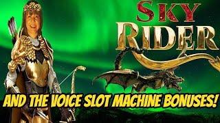 SKY RIDER AND THE VOICE SLOT MACHINE BONUSES