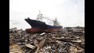 Корабли выброшенные на берег после цунами часть 2