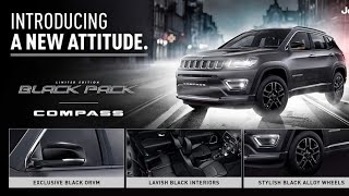 Jeep Compass Black Pack Edition Launched In India Priced At Rs. 20.59 lakh !!