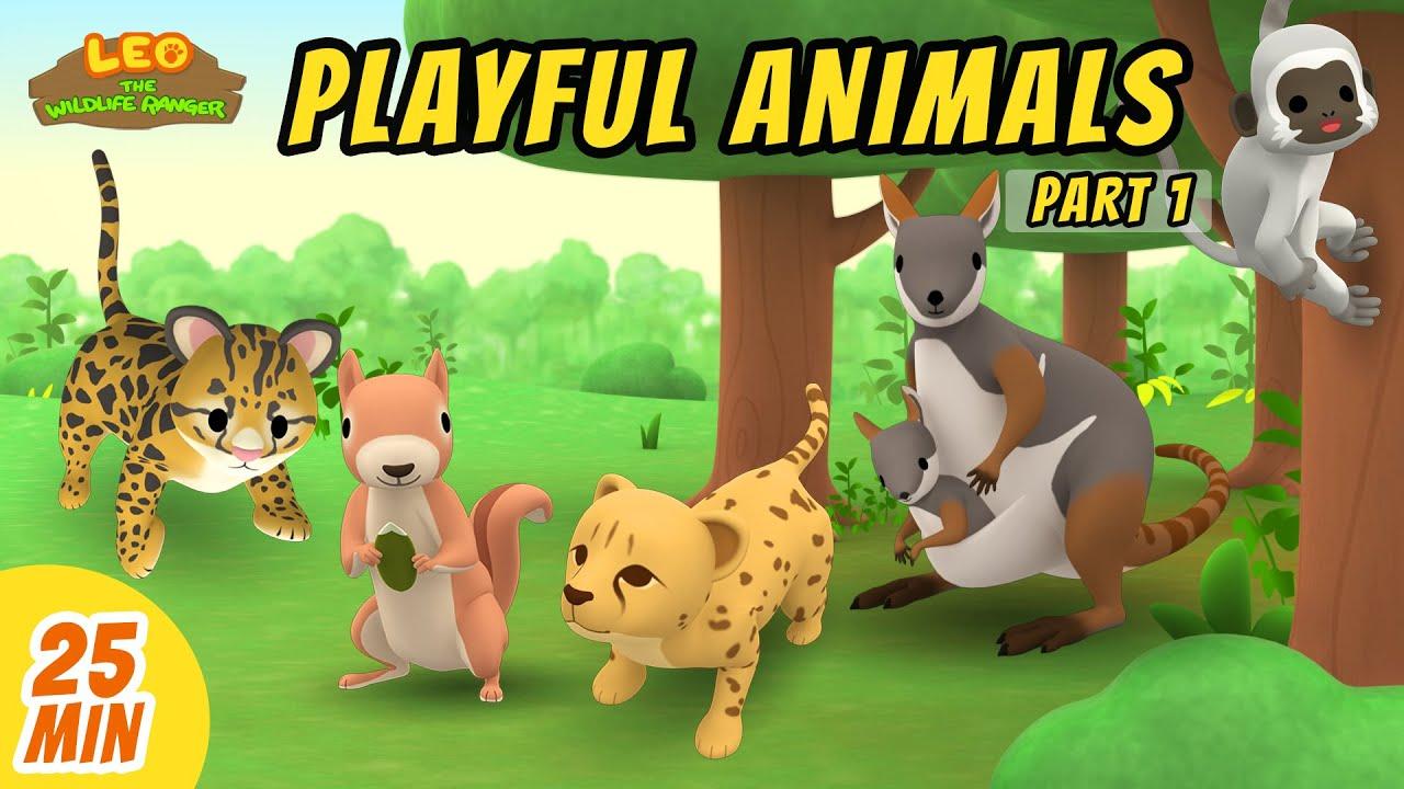 Playful Animals Minisode Compilation (Part 1/2) - Leo the Wildlife Ranger   Animation   For Kids