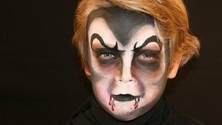 Repeat youtube video Vampir schminken - Dracula Vampir Kinderschminken Anleitung für Halloween