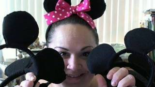 Mickey And Minnie Mouse Ear Tutorial