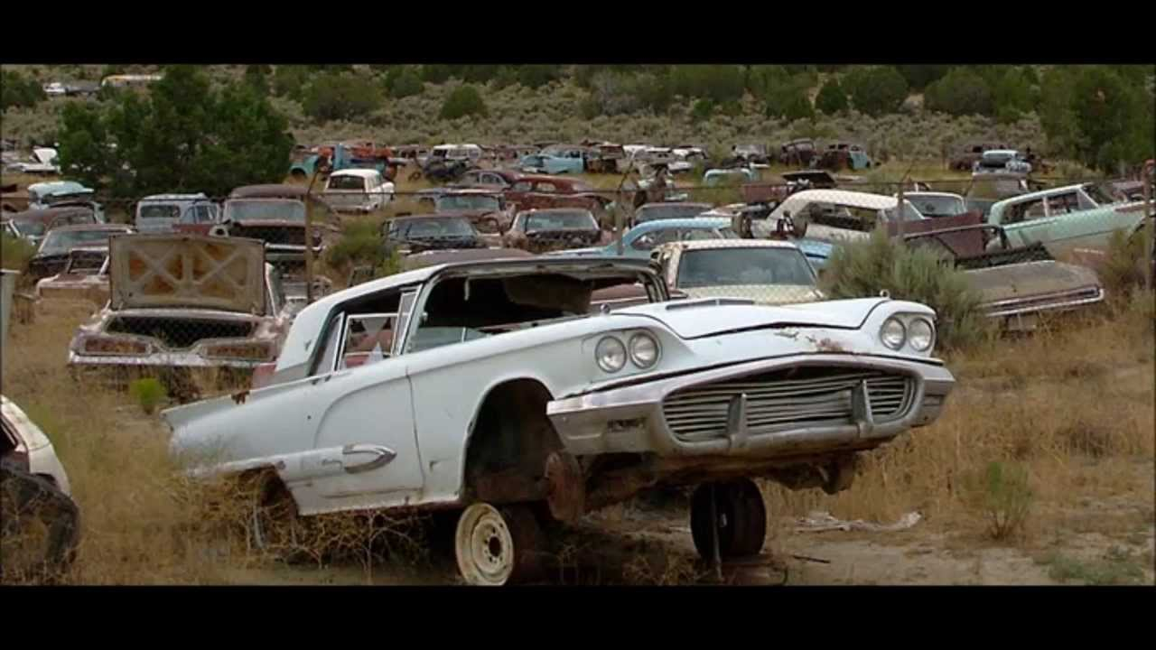 old muscle cars junkyard - YouTube