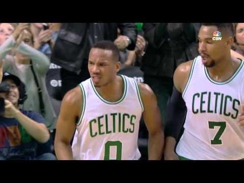 Avery Bradley Climbs the Ladder for the One-Hand Jam!!