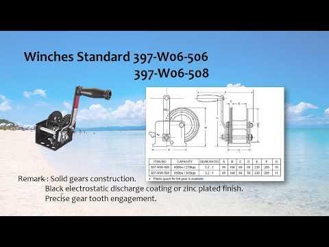Winches Standard/Supply marine hardware/boat accessory/Groundhog Marine Hardware