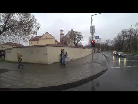 Trolleybus Vilnius Lithuania Sony FDR-X300 4K November 2018!