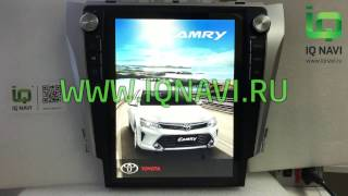 Магнитола с вертикальным экраном IQ NAVI T55-2918TS Toyota Camry V55 12,1