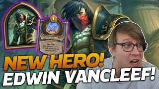 NEW HERO! Edwin VanCleef is GREAT! | Hearthstone Battlegrounds | Savjz