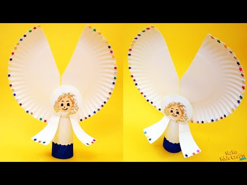 How to make Paper Plate Angel? DIY