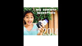 My Summer Essentials 2014 !?! - VVPEACECANADA Thumbnail