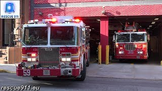 [MOOOVE OUT OF THE WAY !!!] FDNY Engine 59 + Ladder 30