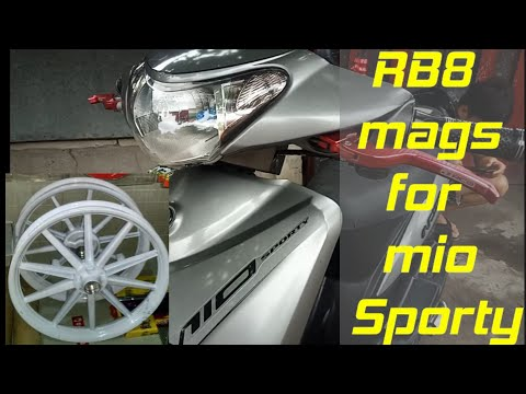 Installing RCB MAGS For Mio Sporty !