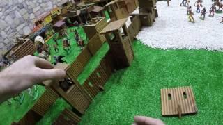 Солдатики игрушки играть с детьми игра как мультики лего роботы война про солдатиков Форт Техас 152