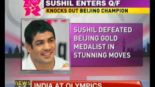 Wrestler Sushil Kumar storms into Olympic semi-finals - NewsX