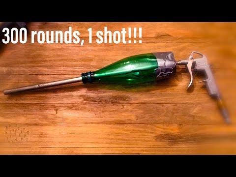 300 Rounds Per Trigger Pull!!! DIY Airsoft Gun