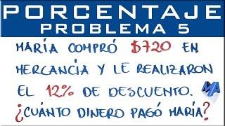 Porcentajes solución de problemas | Ejemplo 5
