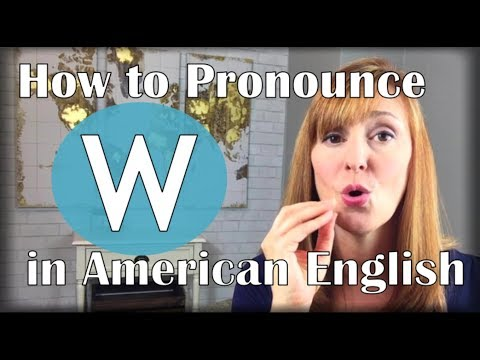 The W Sound vs. The V Sound | American Accent Training