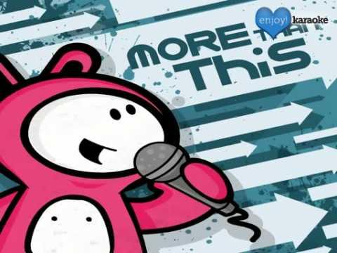 """Me singing """"More Than This"""" on Enjoy! Karaoke"""