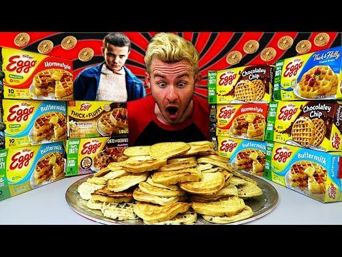 "THE ""HUNGRY THINGS"" EGGO WAFFLE CHALLENGE! (12,000+ CALORIES)"