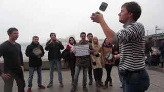 Уроки жонглирования булыжниками Sochi2014/Сщчи2014(день встречи огня олимпиады)