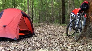 Bike Overnight -  Lightline Road Bush Camp, Brisbane, Australia