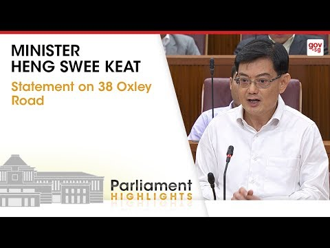 Minister Heng Swee Keat's Statement on 38 Oxley Road