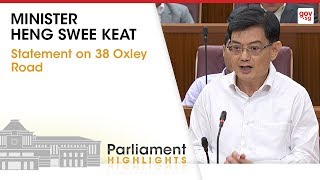 Minister Heng Swee Keat's Statement on 38 Oxley Road thumbnail