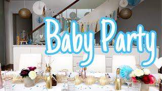 Deko-Baby Party I Wie ist es geworden? I Foto Backdrop selbst basteln uvm.