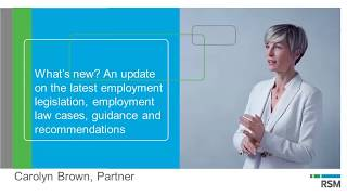 What's new? An update on latest employment legislation