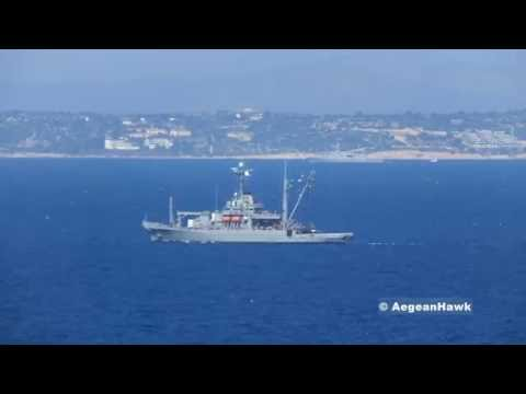 US Navy Grapple T-ARS 53 under NATO SNMG2 patrolling the Aegean Sea.