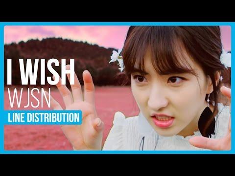 WJSN (Cosmic Girls) - I Wish Line Distribution (Color Coded)