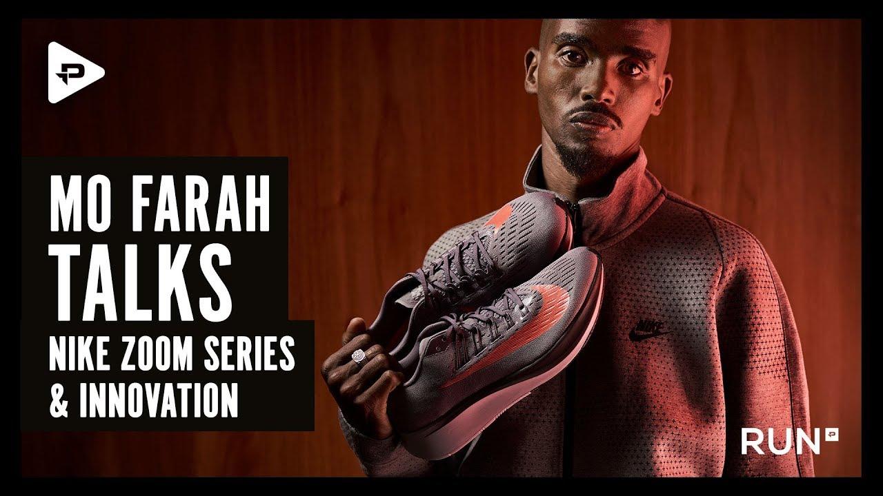1e98ab440f87 Mo Farah talks Nike Zoom Series and innovation - YouTube