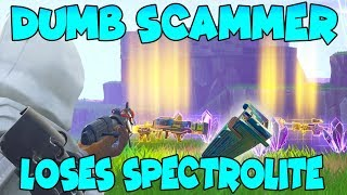 Dumb Scammer With 200 Spectrolite Ore Scams Himself! (Scammer Gets Scammed) Fortnite Save The World