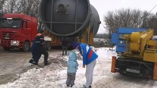Перевозка реактора на нефтеперерабатывающий завод в г.Уфе