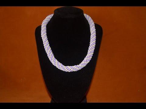 Жгут из бисера Твин.  Бисероплетение.  Мастер класс / Wiring of beads. Beading