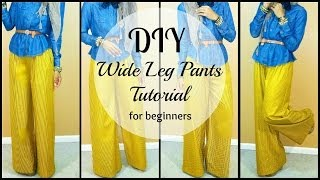 Nadira037 | DIY | How to Sew Wide leg Pants | For Beginners