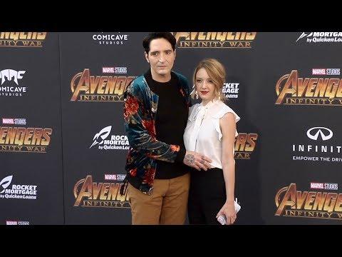 "David Dastmalchian and Evelyn Leigh ""Avengers: Infinity War"" World Premiere Purple Carpet"