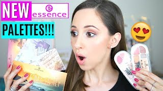 New Essence Eyeshadow Palettes 2019 - Swatches & Drugstore Makeup Haul