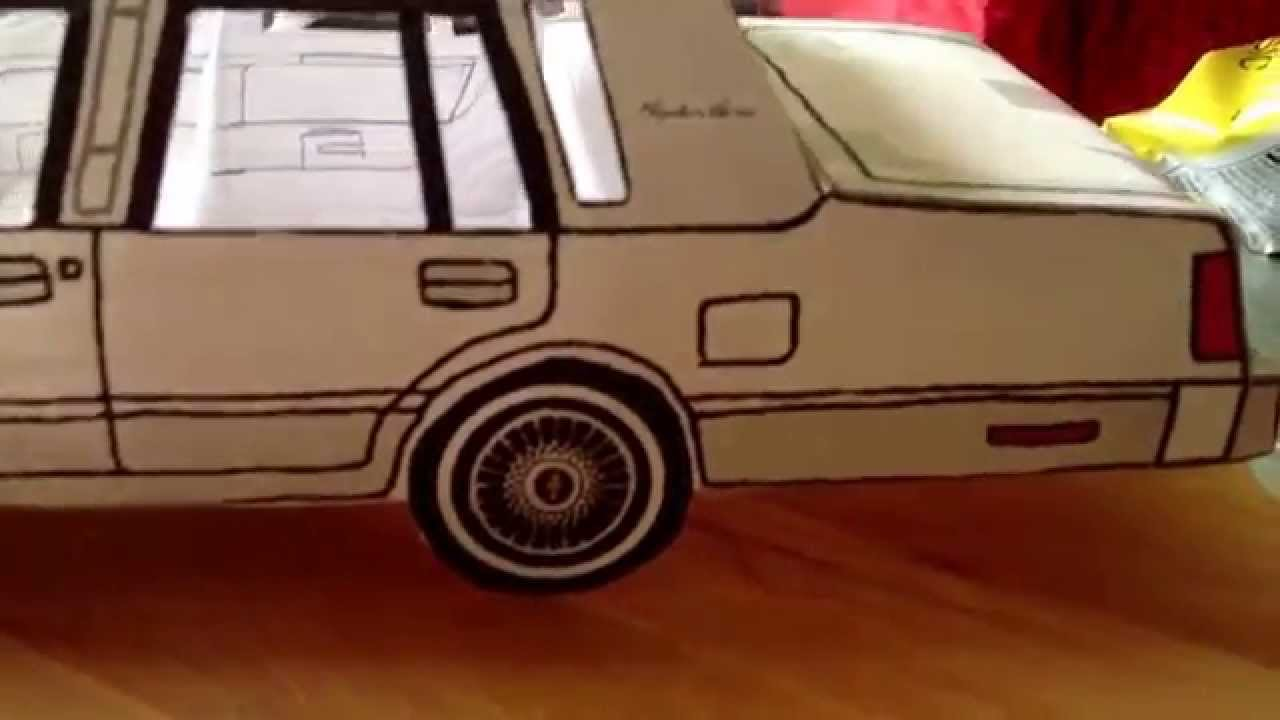 Papercraft 1986 Lincoln town car paper model