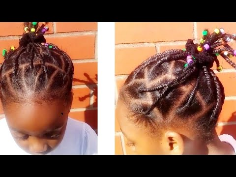 African threading /protective hairstyles for kids /kids girls hairstyle