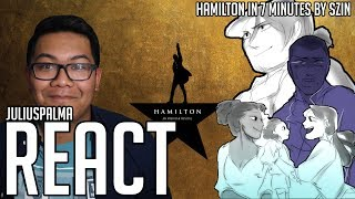 JULIUS REACTS: Hamilton in 7 Minutes || Hamilton Animatic (S...