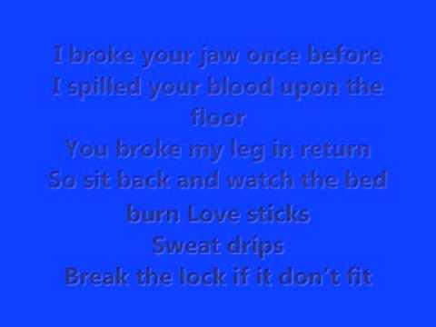 kiss with a fist lyrics