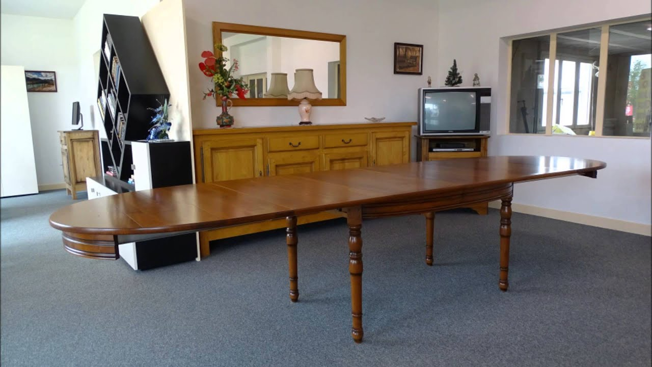 Table ovale louis philippe merisier youtube for Table salle a manger ancienne