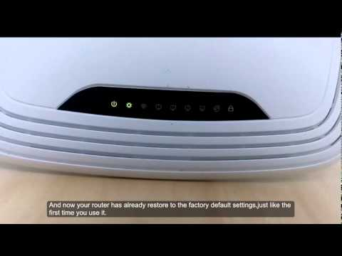 TP Link TL WR841N Wireless N Router Hard Reset and setu ...