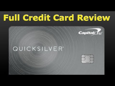 Credit Card Review: Capital One Quicksilver Credit Card