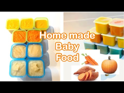 HOW TO MAKE BABY FOOD| 3 Veggies Puree| BULK COOKING For Babies From 5months